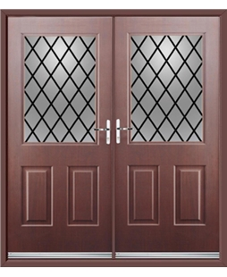 Windsor French Rockdoor in Rosewood with Diamond Lead
