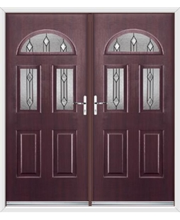 Tennessee French Rockdoor in Rosewood with Dorado Glazing