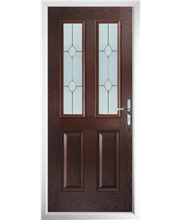 The Cardiff Composite Door in Rosewood with Classic Glazing
