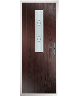 The Sheffield Composite Door in Rosewood with Classic Glazing