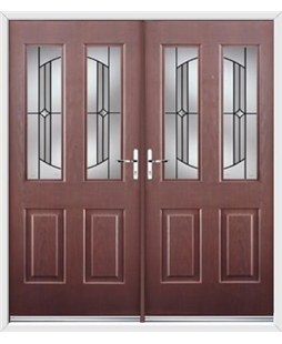 Jacobean French Rockdoor in Rosewood with Ellipse