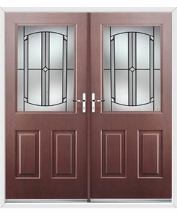 Windsor French Rockdoor in Rosewood with Ellipse