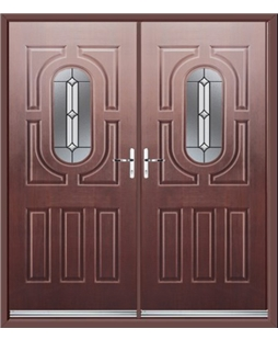 Arcacia French Rockdoor in Rosewood with Ellipse