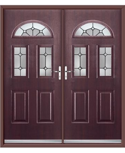 Tennessee French Rockdoor in Rosewood with Ellipse