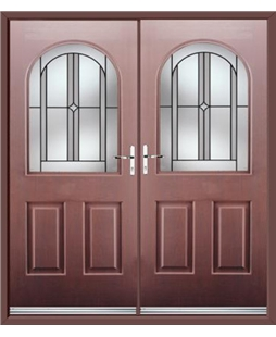 Kentucky French Rockdoor in Rosewood with Ellipse
