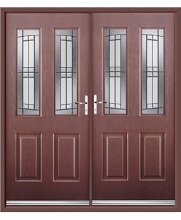 Jacobean French Rockdoor in Rosewood with Empire