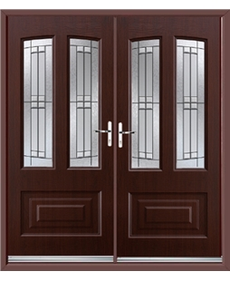 Illinois French Rockdoor in Rosewood with Empire