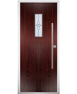 The Zetland Composite Door in Rosewood with Finesse Glazing