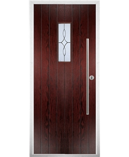 The Zetland Composite Door in Rosewood with Flair Glazing