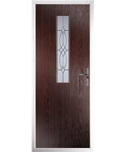The Sheffield Composite Door in Rosewood with Flair Glazing