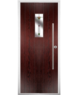 The Zetland Composite Door in Rosewood with Fleur