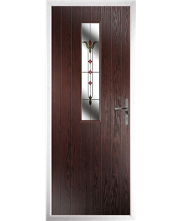 The Sheffield Composite Door in Rosewood with Fleur