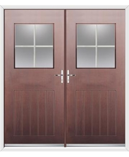 Cottage View Light French Rockdoor in Rosewood with Georgian Bar