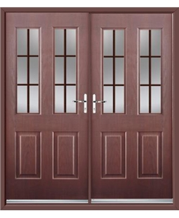 Jacobean French Rockdoor in Rosewood with Woodgrain Georgian Bar