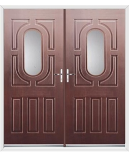 Arcacia French Rockdoor in Rosewood with Glazing