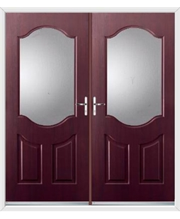 Georgia French Rockdoor in Rosewood with Glazing