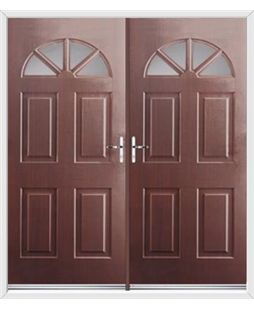 Carolina French Rockdoor in Rosewood with Glazing