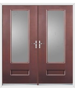 Vogue French Rockdoor in Rosewood with Glazing