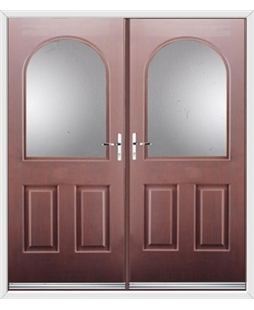 Kentucky French Rockdoor in Rosewood with Glazing