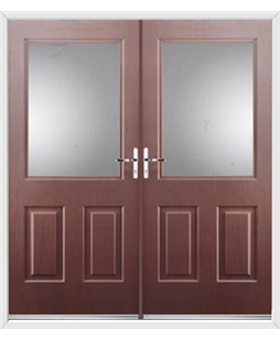 Windsor French Rockdoor in Rosewood with Glazing