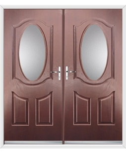 Montana French Rockdoor in Rosewood with Glazing