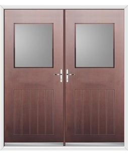 Cottage View Light French Rockdoor in Rosewood with Glazing