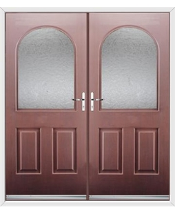 Kentucky French Rockdoor in Rosewood with Gluechip Glazing