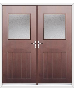 Cottage View Light French Rockdoor in Rosewood with Gluechip Glazing