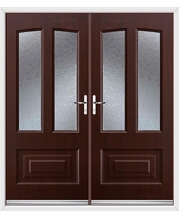 Illinois French Rockdoor in Rosewood with Gluechip Glazing