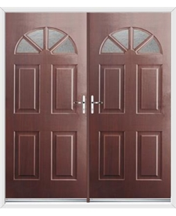 Carolina French Rockdoor in Rosewood with Gluechip Glazing