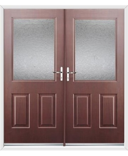 Windsor French Rockdoor in Rosewood with Gluechip Glazing