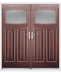 Newark French Rockdoor in Rosewood with Gluechip Glazing