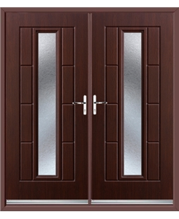 Vermont French Rockdoor in Rosewood with Gluechip Glazing