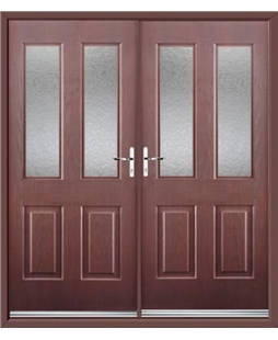 Jacobean French Rockdoor in Rosewood with Gluechip Glazing