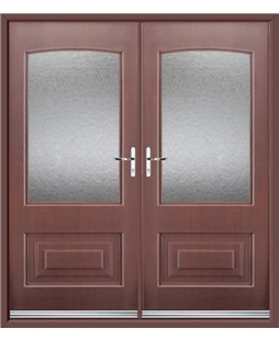 Portland French Rockdoor in Rosewood with Gluechip Glazing