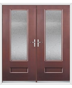 Vogue French Rockdoor in Rosewood with Gluechip Glazing