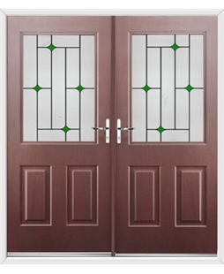 Windsor French Rockdoor in Rosewood with Green Diamonds