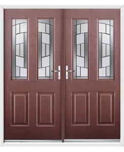 Jacobean French Rockdoor in Rosewood with Inspire