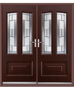 Illinois French Rockdoor in Rosewood with Inspire