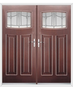 Newark French Rockdoor in Rosewood with Lantern Glazing