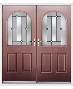 Kentucky French Rockdoor in Rosewood with Linear