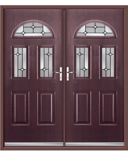 Tennessee French Rockdoor in Rosewood with Linear