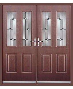 Jacobean French Rockdoor in Rosewood with Linear