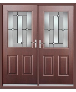 Windsor French Rockdoor in Rosewood with Linear