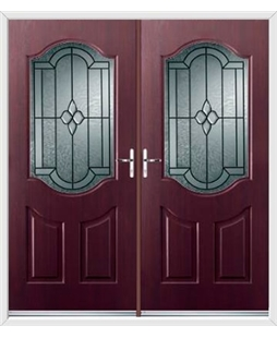 Georgia French Rockdoor in Rosewood with Northern Star