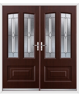 Illinois French Rockdoor in Rosewood with Pinnacle