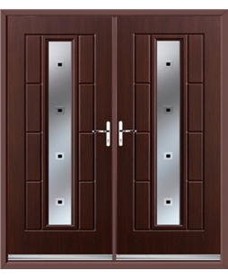 Vermont French Rockdoor in Rosewood with Quadra
