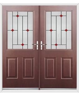 Windsor French Rockdoor in Rosewood with Red Diamonds
