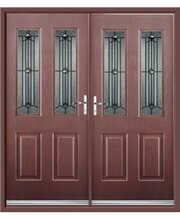 Jacobean French Rockdoor in Rosewood with Scorpio