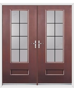 Vogue French Rockdoor in Rosewood with Square Lead